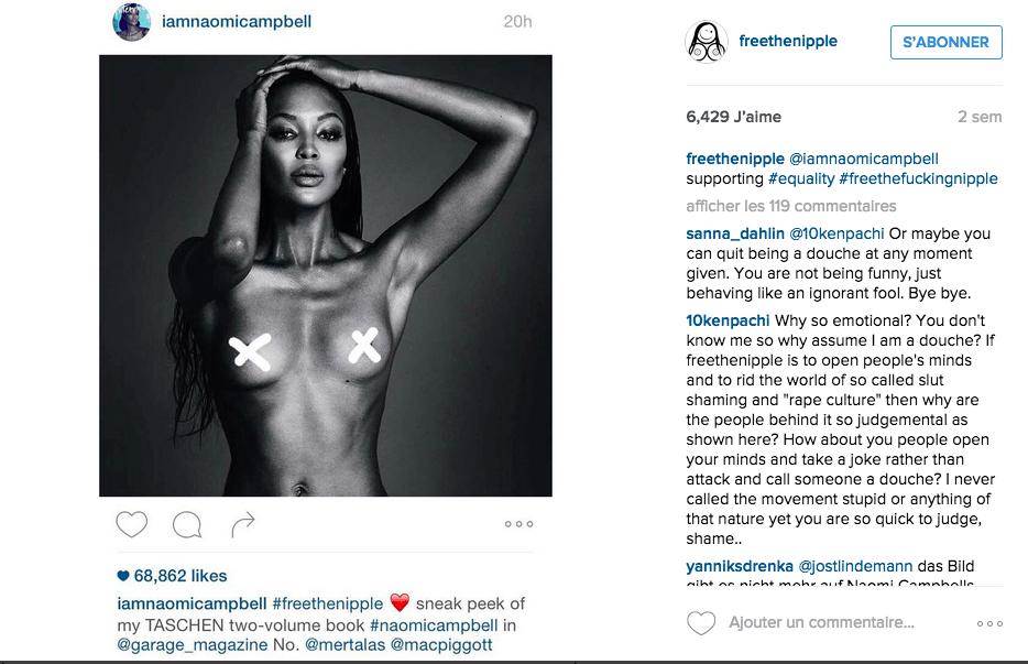 Instagram : «couvrez ce sein qu'Apple ne saurait voir»