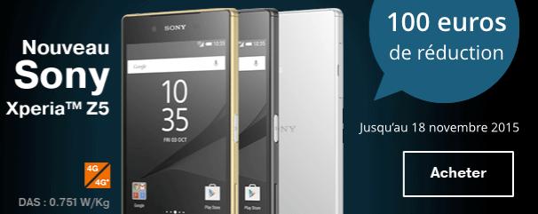Bon plan : 100 euros de réduction sur les Sony Xperia Z5 et Z5 Compact chez Sosh et Orange