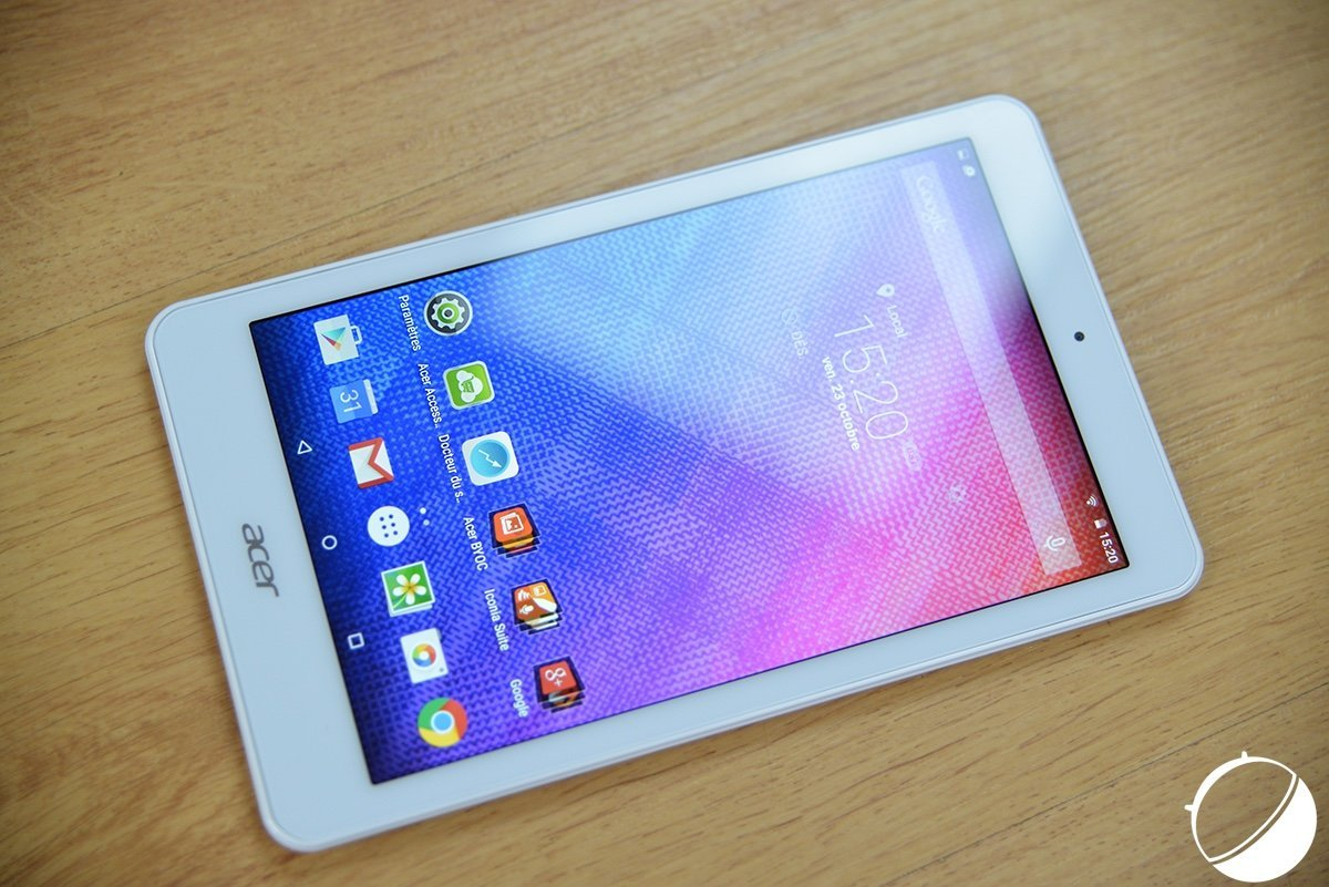 Test de l'Acer Iconia One 8 : du vu et revu