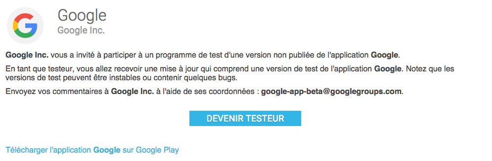 Google lance un programme de bêta-test pour son application « Google »
