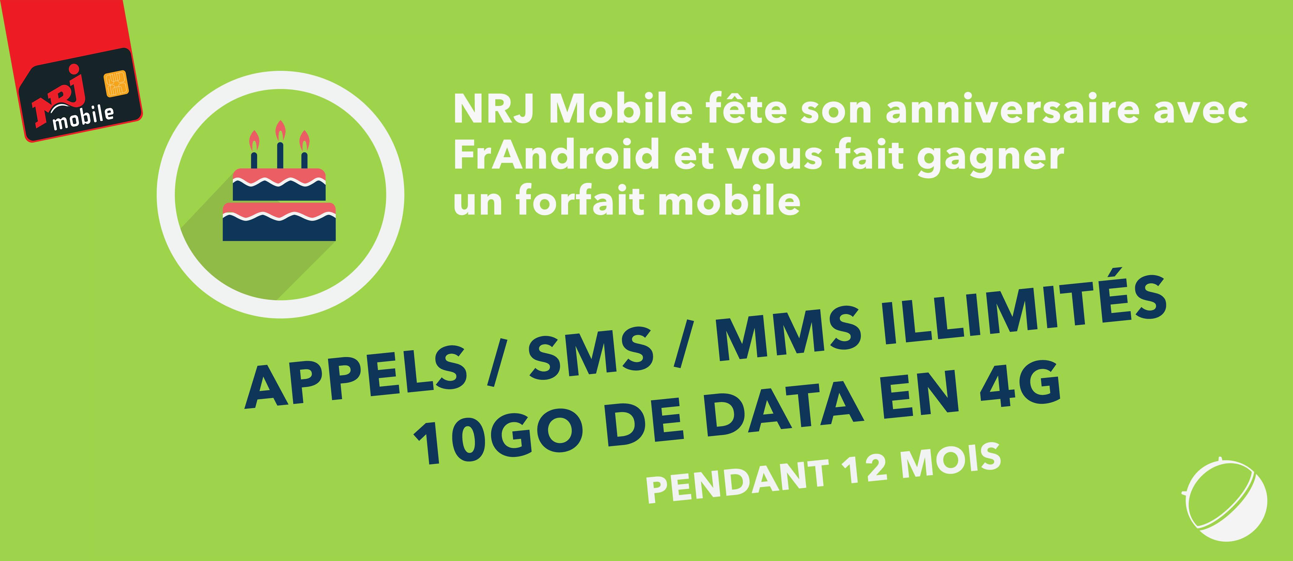 Concours : NRJ Mobile fête ses 10 ans et vous offre 1 an de forfait