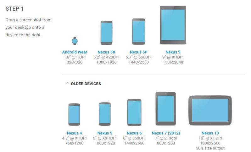 Les Nexus 5X et 6P ajoutés au Device Art Generator