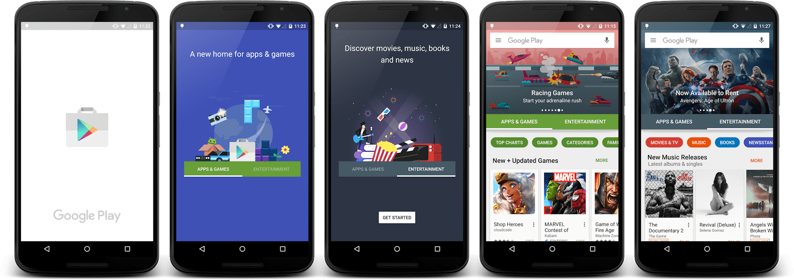 Le nouveau Play Store arrive timidement en France