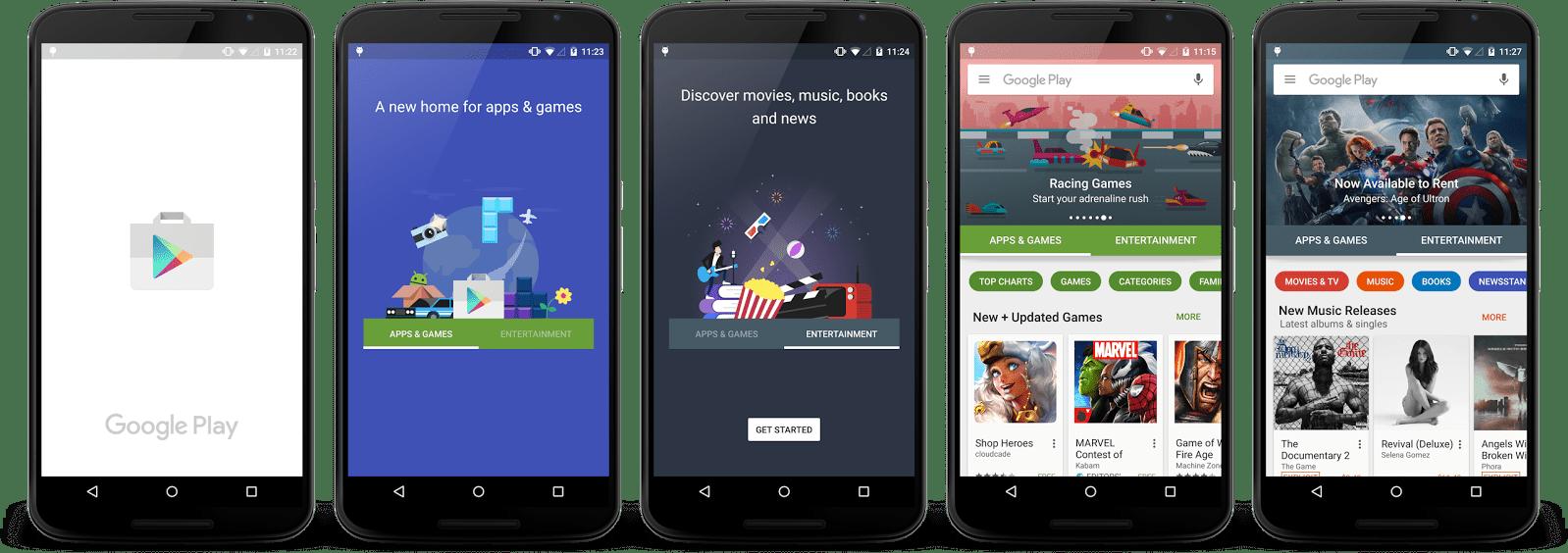 Le nouveau Play Store est en cours de déploiement sur Android