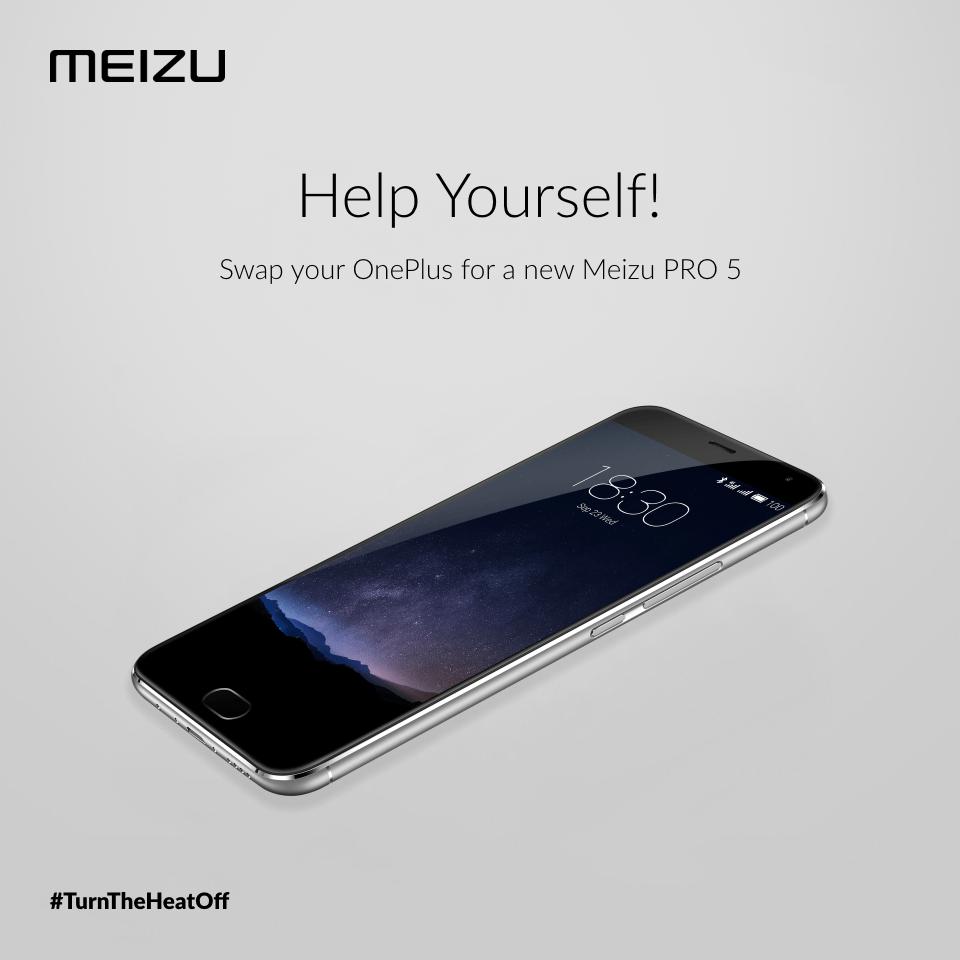 Meizu veut vous faire échanger votre OnePlus 2 contre un Meizu Pro 5