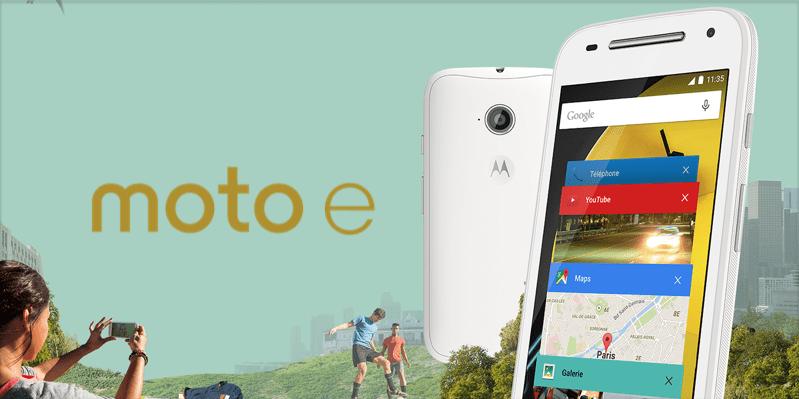 Bon plan : le Motorola Moto E 4G est à 100 euros (dont 20 euros d'ODR)