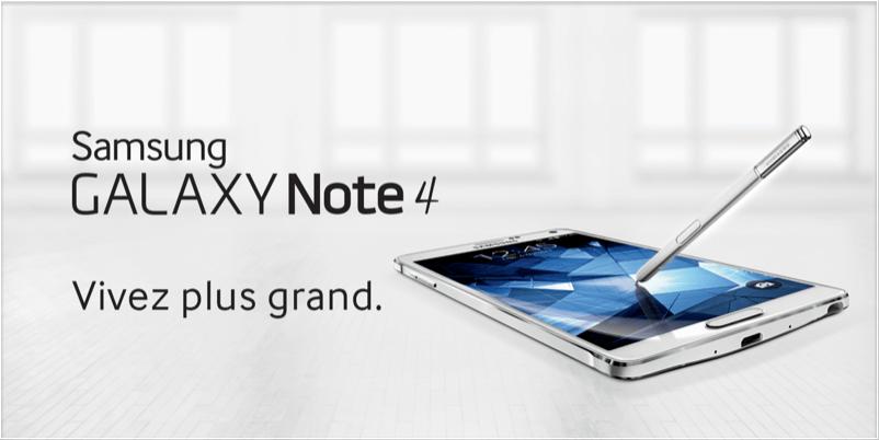 Bon plan : Le Samsung Galaxy Note 4 est à 519,90 euros