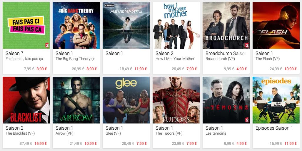 Le Play Store français mise sur les séries TV