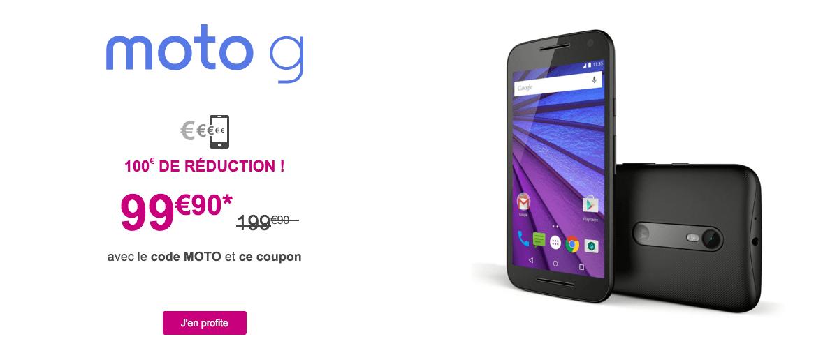 Bon plan : le Motorola Moto G 3e génération est à 99,90 euros seulement