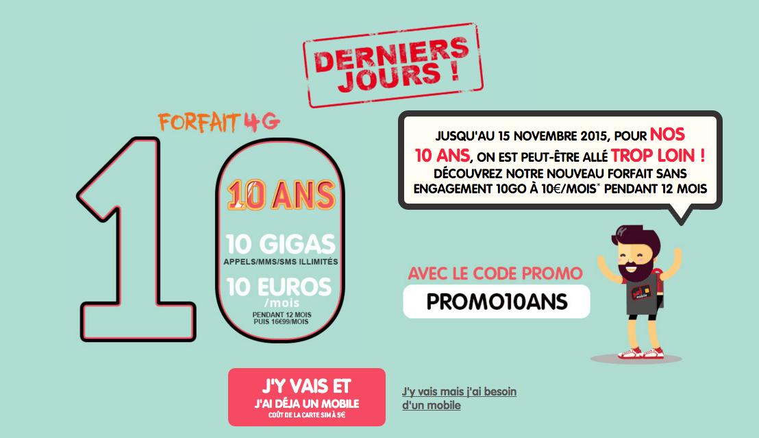 Bon plan : dernier week-end pour profiter du forfait NRJ Mobile 10 Go à 10 euros