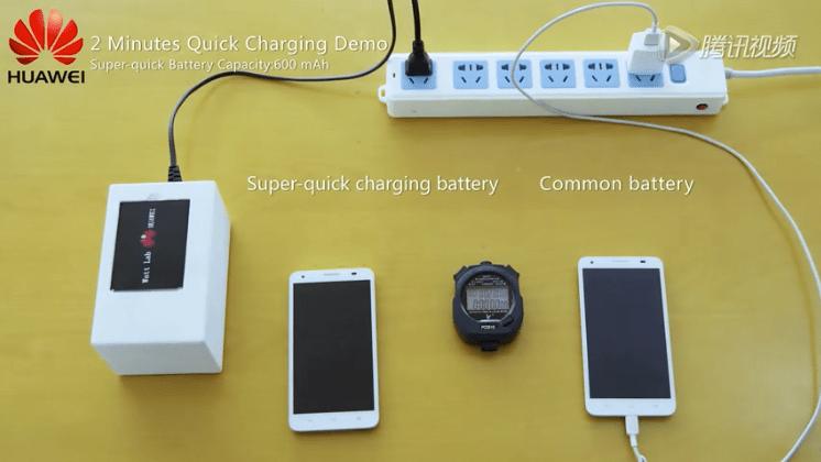 Huawei présente une batterie qui se charge de 50 % en 5 minutes