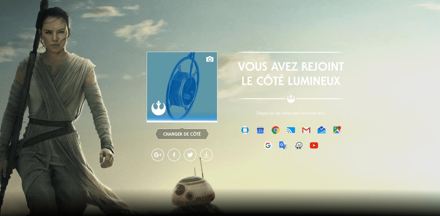 Google se met aussi aux couleurs de Star Wars