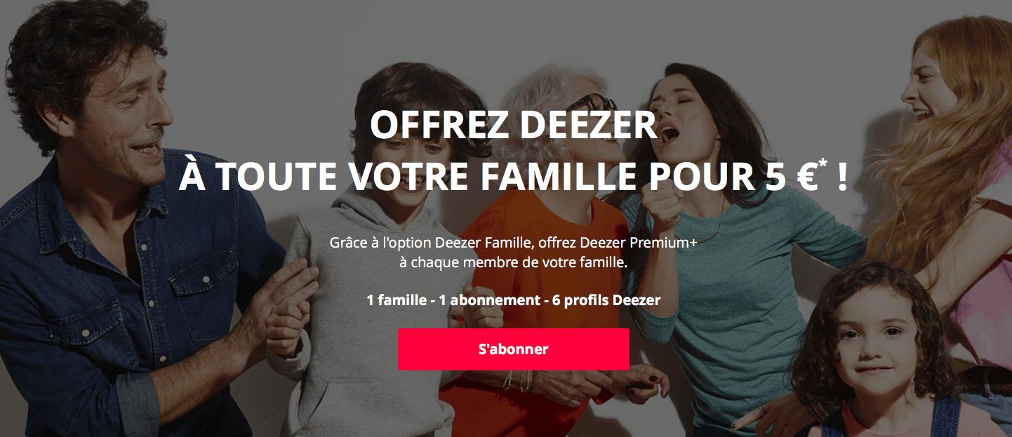 Deezer lance aussi son offre familiale, mais seulement pour les clients Orange
