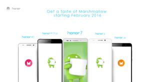 Marshmallow : Honor dévoile les modèles concernés par la mise à jour