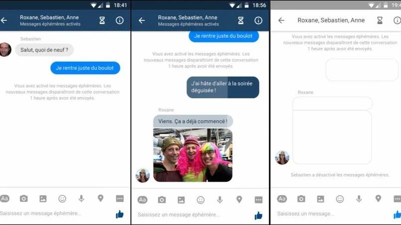 Facebook Messenger teste des messages éphémères pour concurrencer Snapchat