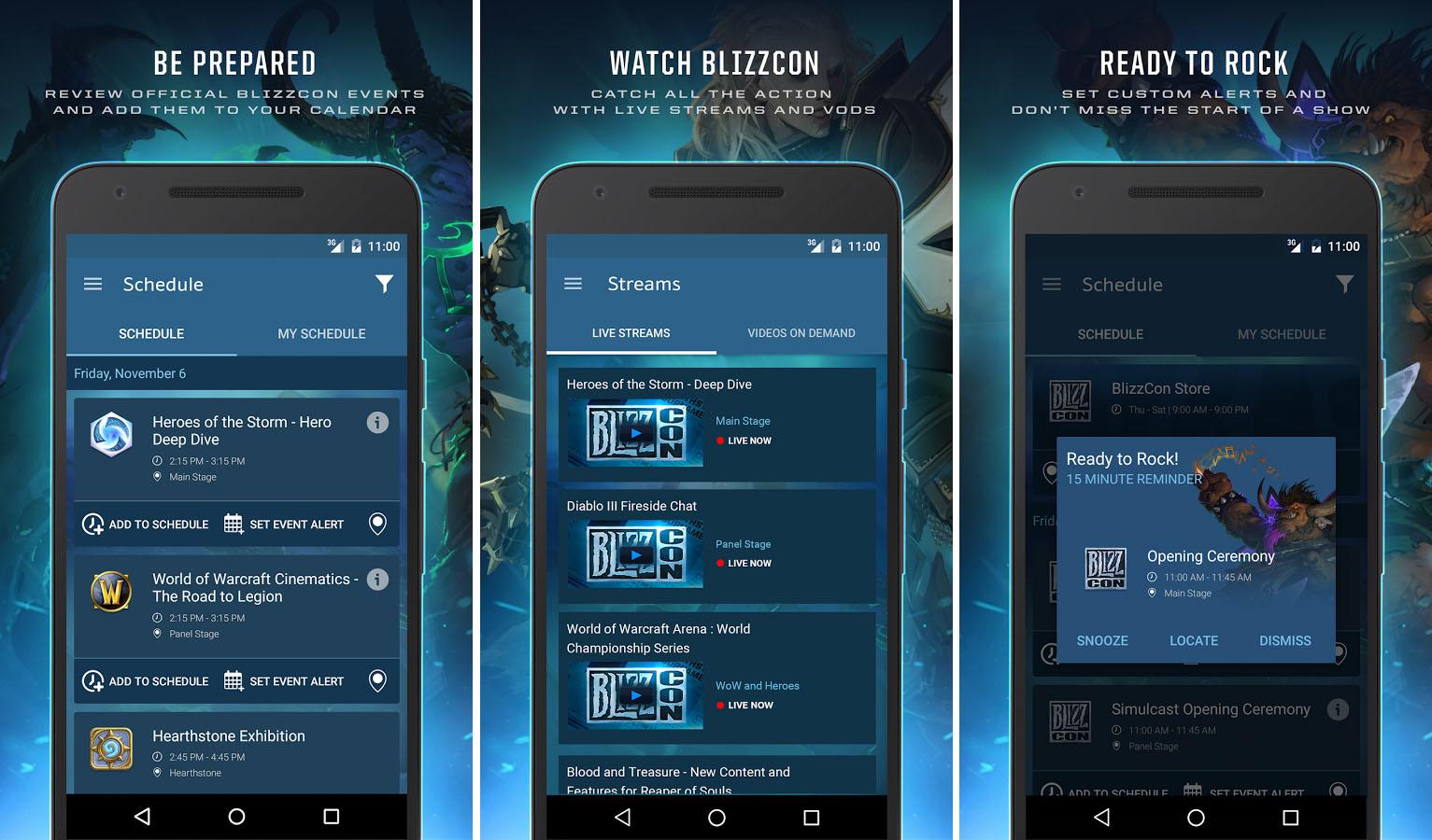 Guide de la BlizzCon : l'application mise à jour pour l'édition 2015
