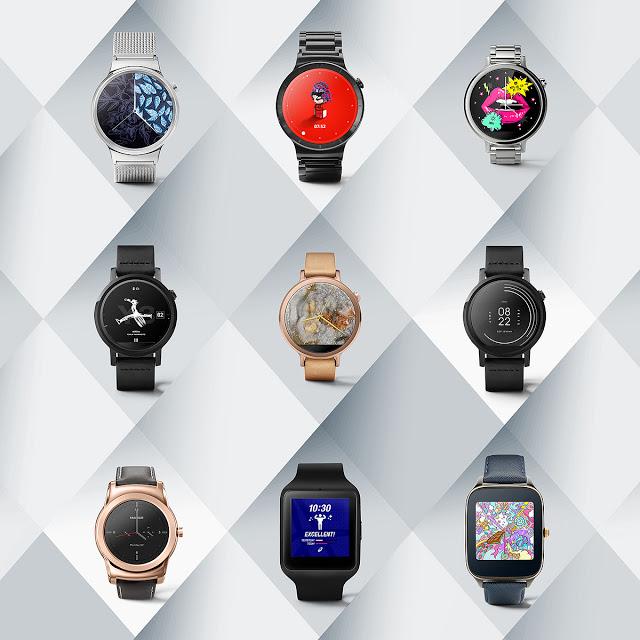 Google livre un nouveau lot de cadrans Android Wear