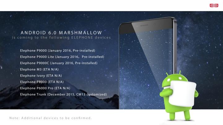 Même Elephone publie son planning de mises à jour vers Marshmallow