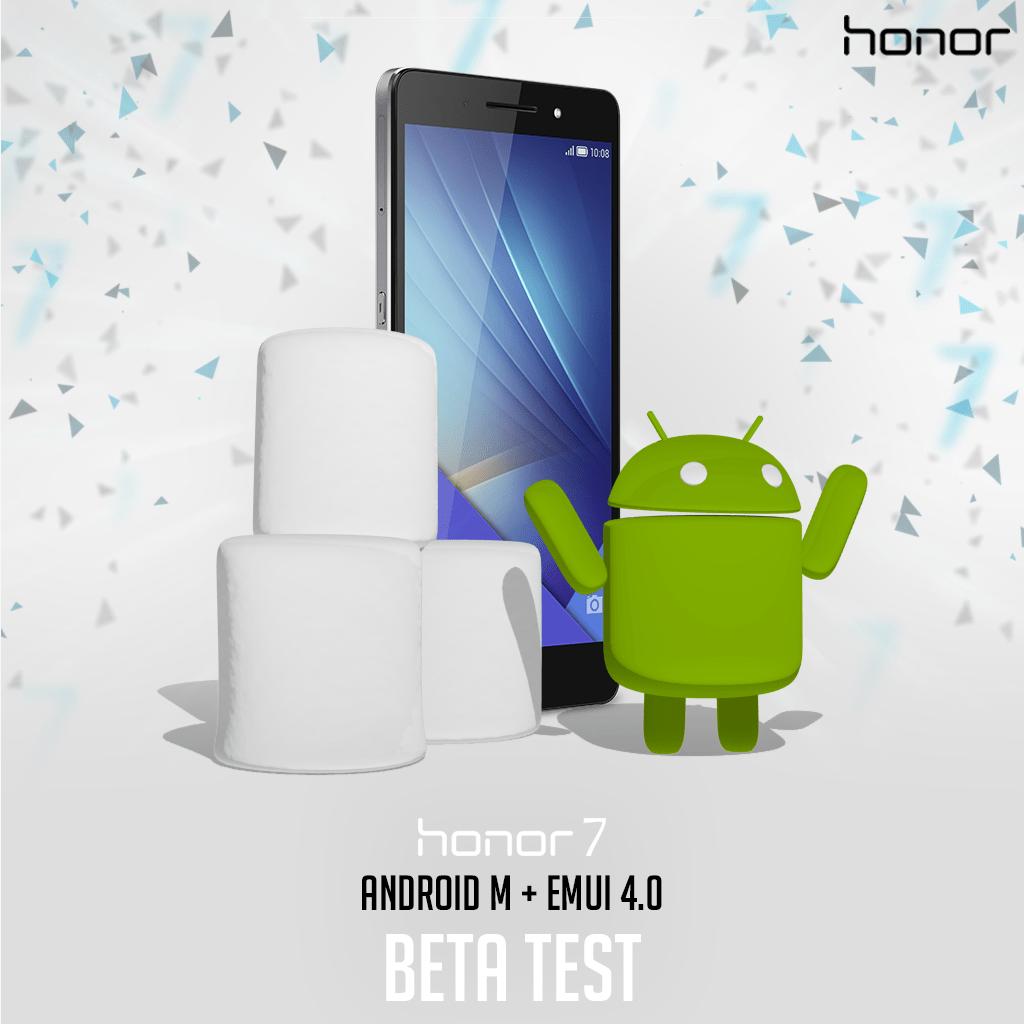 Utilisateurs du Honor 7, inscrivez-vous pour tester EMUI 4.0 et Android Marshmallow
