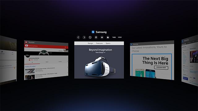 Samsung Gear VR : le casque de réalité virtuelle se dote d'un navigateur Internet
