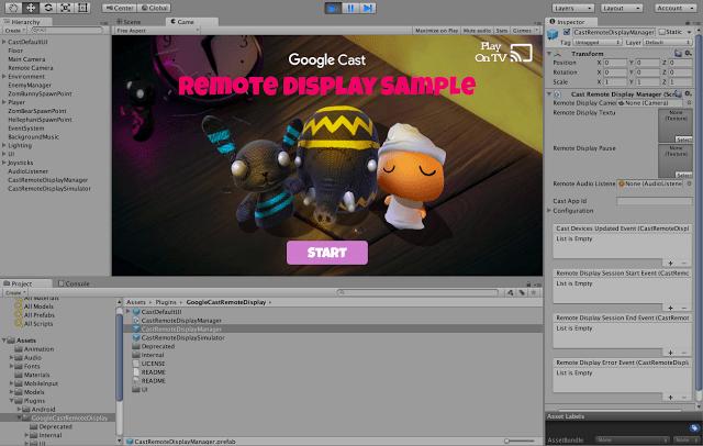 Unity : bientôt davantage de jeux compatibles avec Google Cast