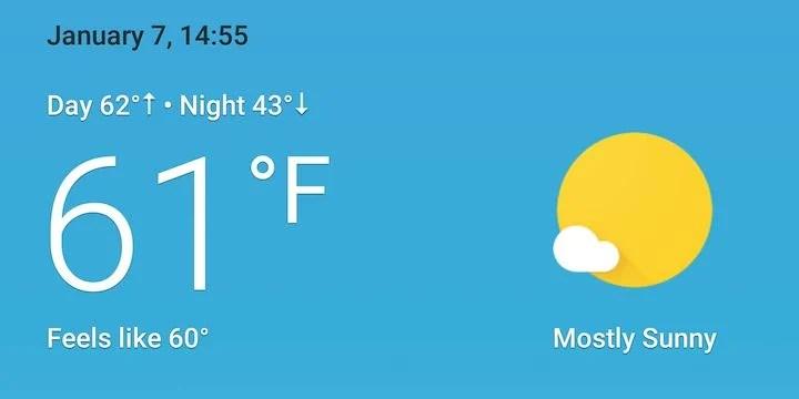 Google donne un coup de jeune à ses cartes météo de Google Now et Search