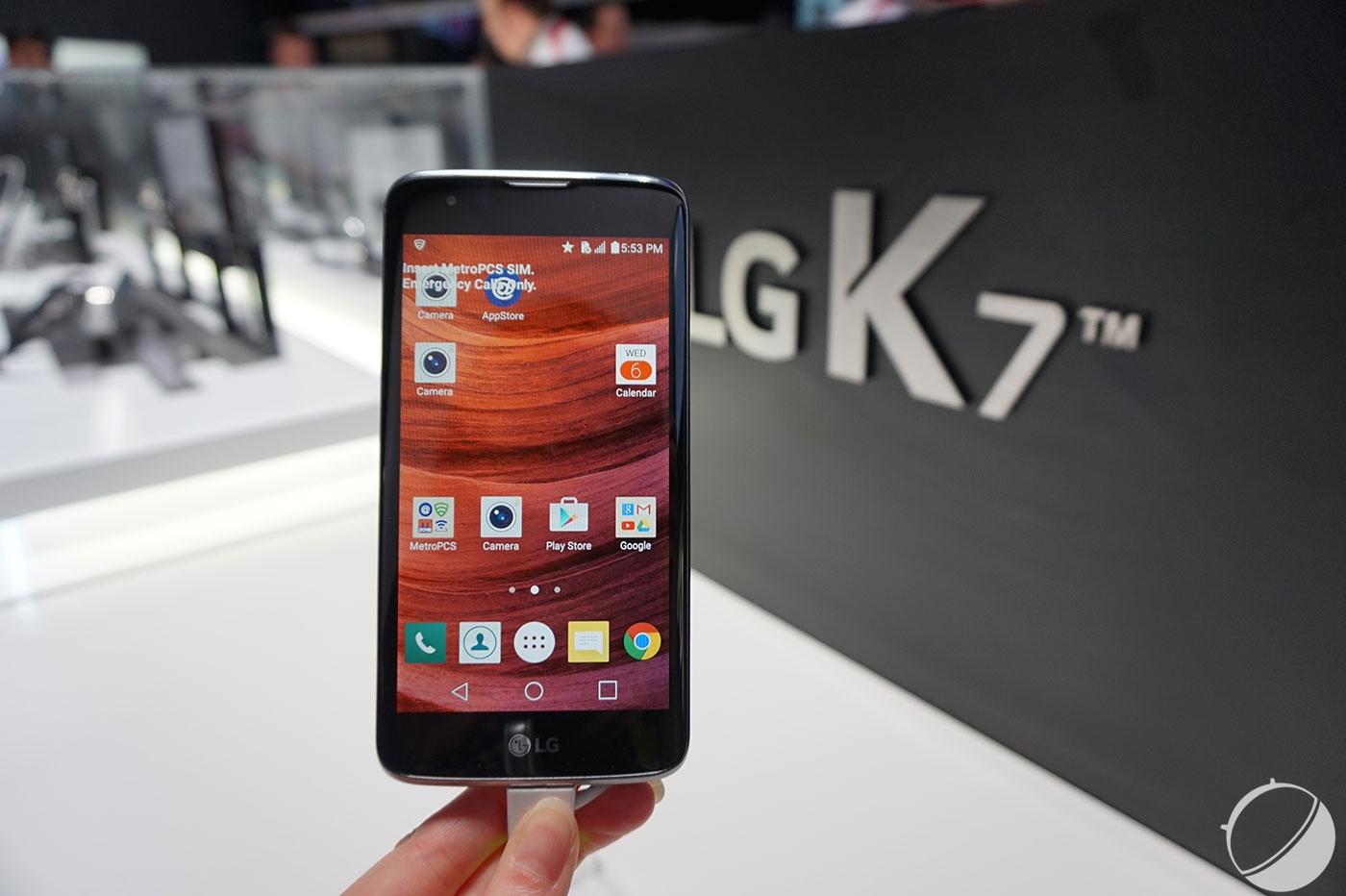 CES 2016 : LG K10 et K7, leurs prix et dates de sortie en France