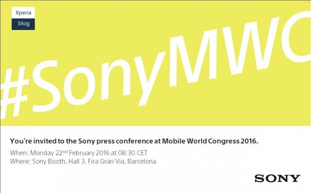 MWC 2016 : La date de la conférence de Sony est officielle