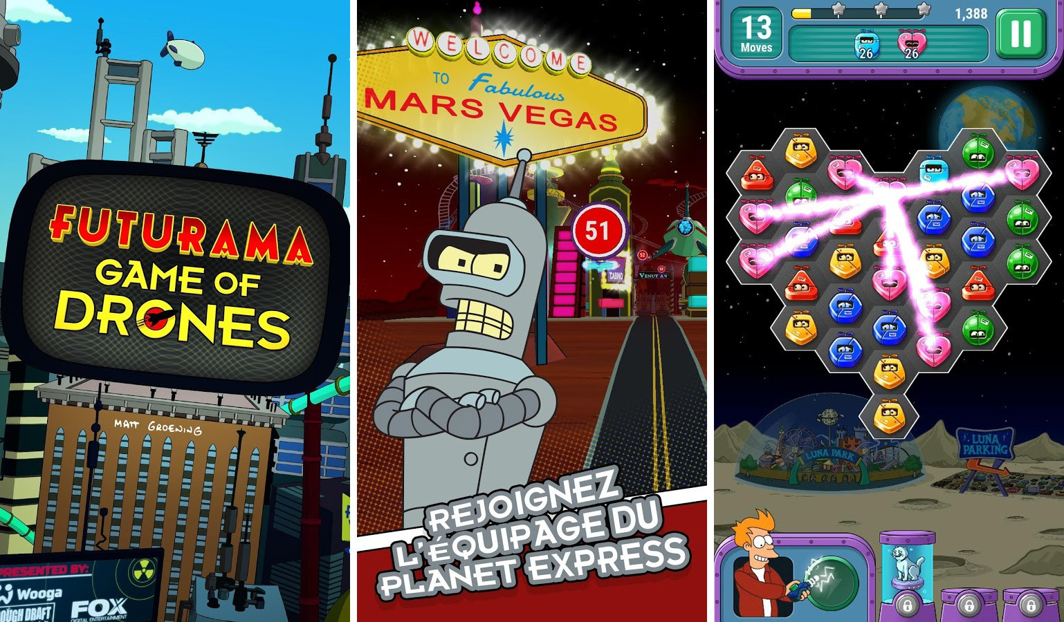Futurama: Game of Drones, le Candy Crush-like est disponible sur le Google Play Store