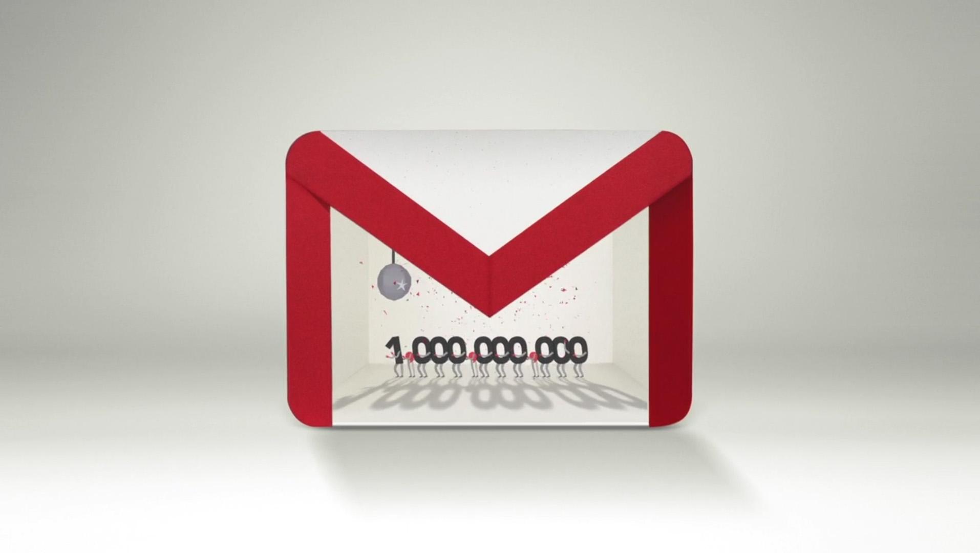 Gmail dépasse le milliard d'utilisateurs actifs