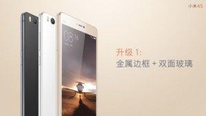 Xiaomi Mi 4s : un Mi 4c légèrement boosté, et avec un capteur d'empreintes