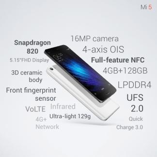 Xiaomi Mi 5 : ses différentes versions, ses prix et sa disponibilité