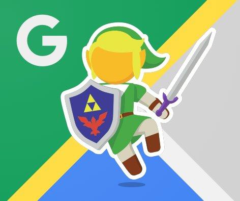 Link (Zelda) s'invite sur Google Maps