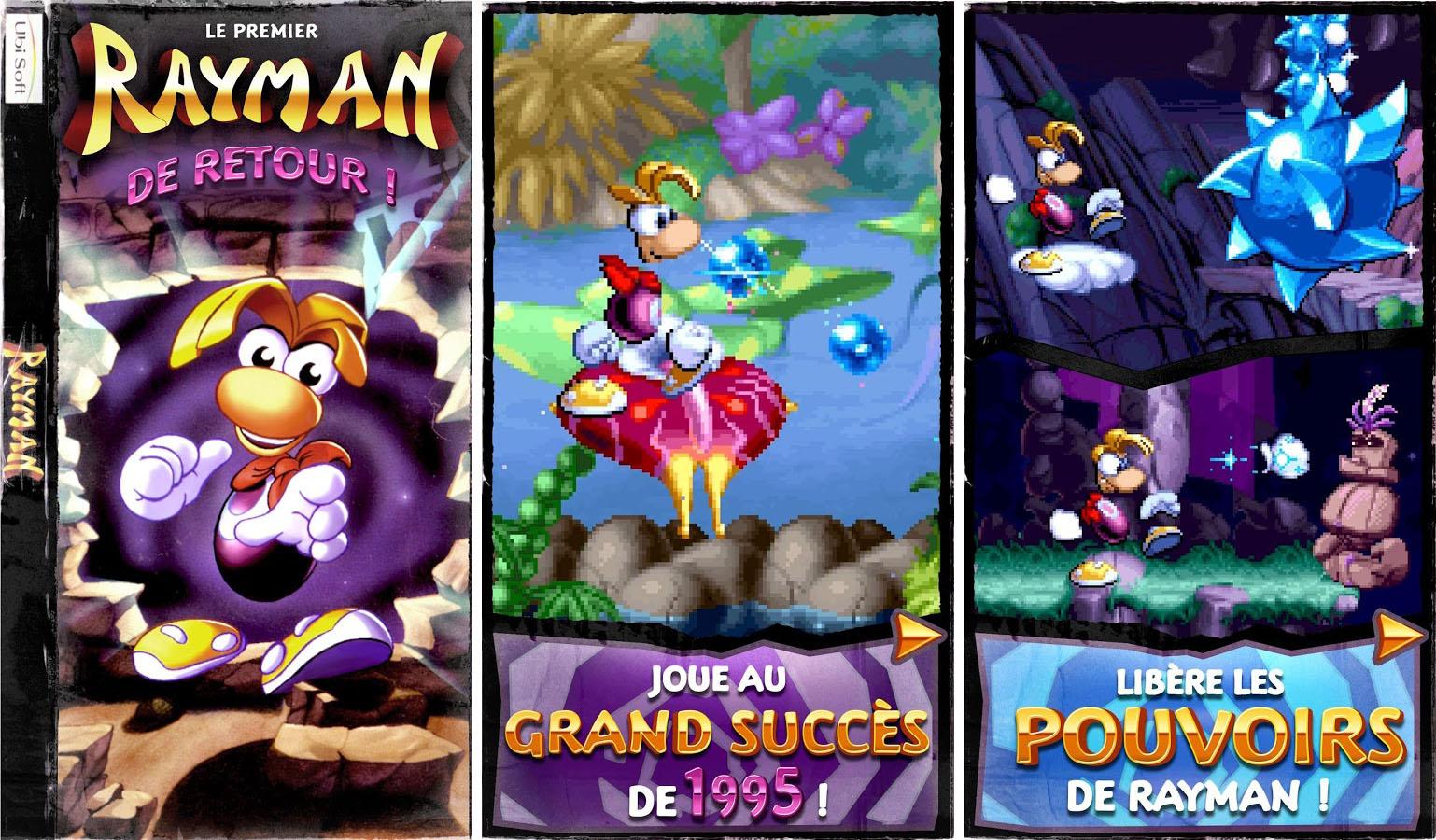 Rayman Classic fait des pieds et des mains sur le Google Play Store