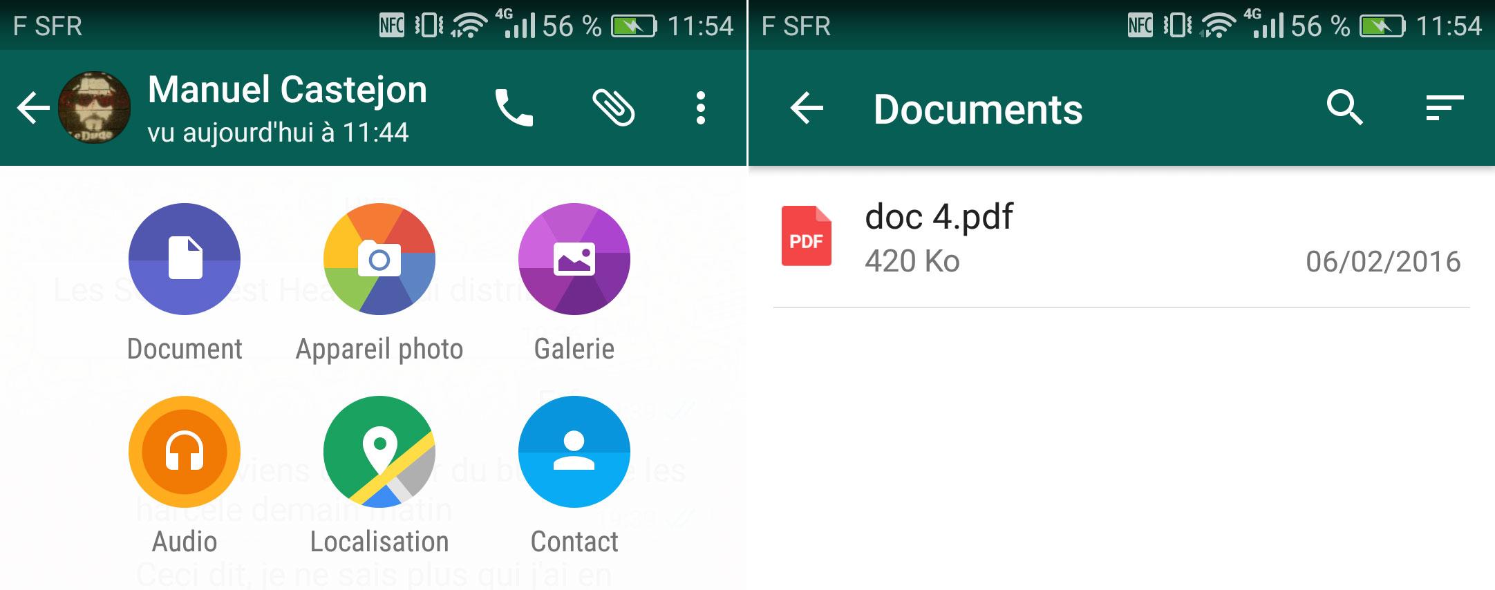 WhatsApp autorise désormais l'envoi de quelques documents