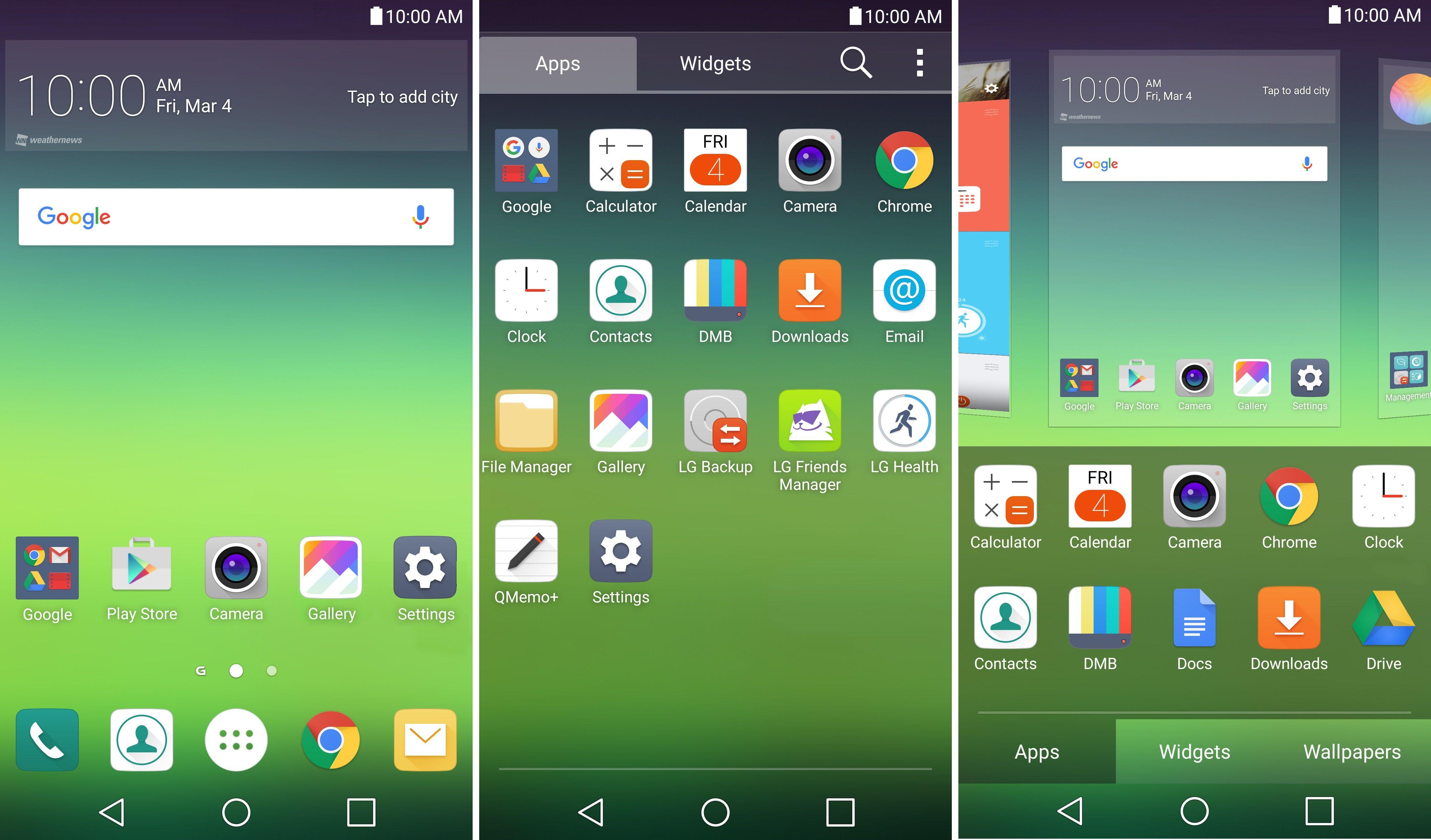 LGG5 : le launcher avec le tiroir d'application disponible au téléchargement