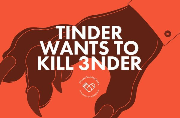 Tinder porte plainte contre 3nder