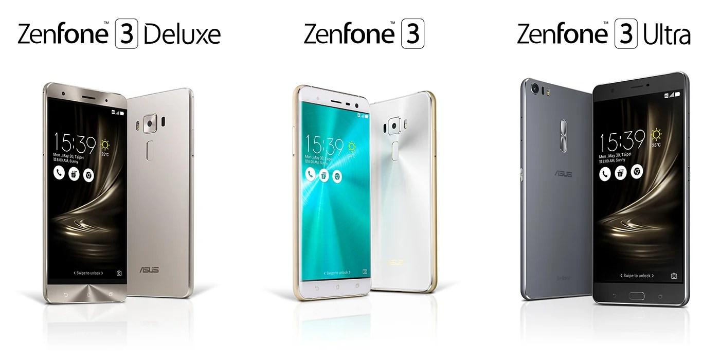 Asus ZenFone 3, Zenfone 3 Deluxe et Zenfone 3 Ultra : les prix et les caractéristiques