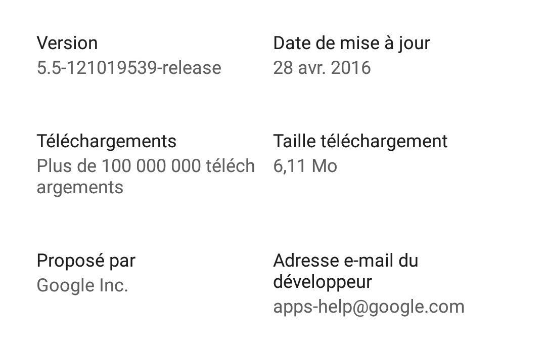 Le Play Store indique maintenant clairement la taille des mises à jour des applications