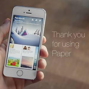 Facebook Paper se fait jeter à la corbeille