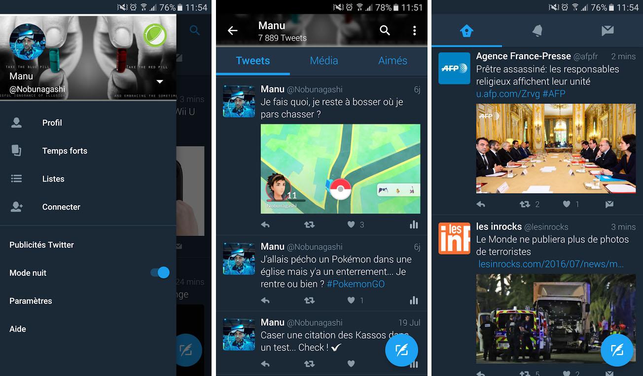 Twitter 6.7.0 propose enfin le mode nuit à tout le monde
