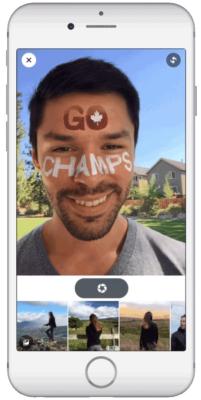 Comme Snapchat, Facebook propose des filtres vidéo et photo à utiliser en direct