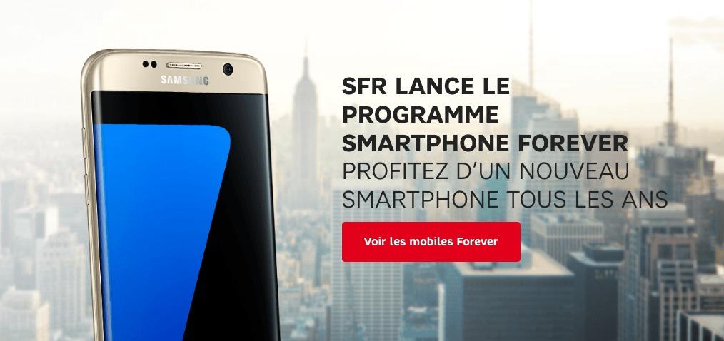 SFR se lance aussi dans la location de smartphones