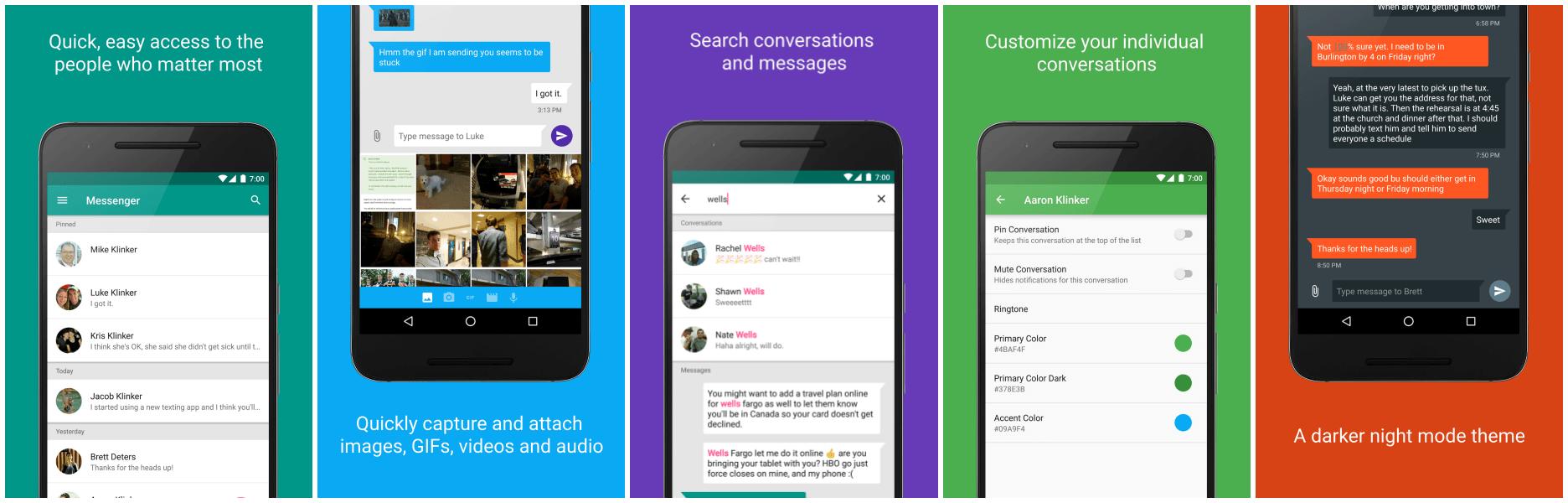 Klinker Messenger, une app Android de gestion de SMS sous iOS, Android TV et Chrome