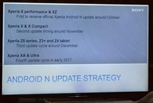 Android 7.0 Nougat : Sony dévoile (par erreur) son calendrier de mises à jour