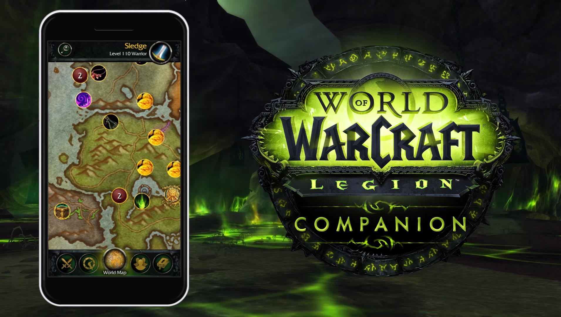 WoW Legion Companion vous laisse gérer vos expéditions à distance depuis votre application