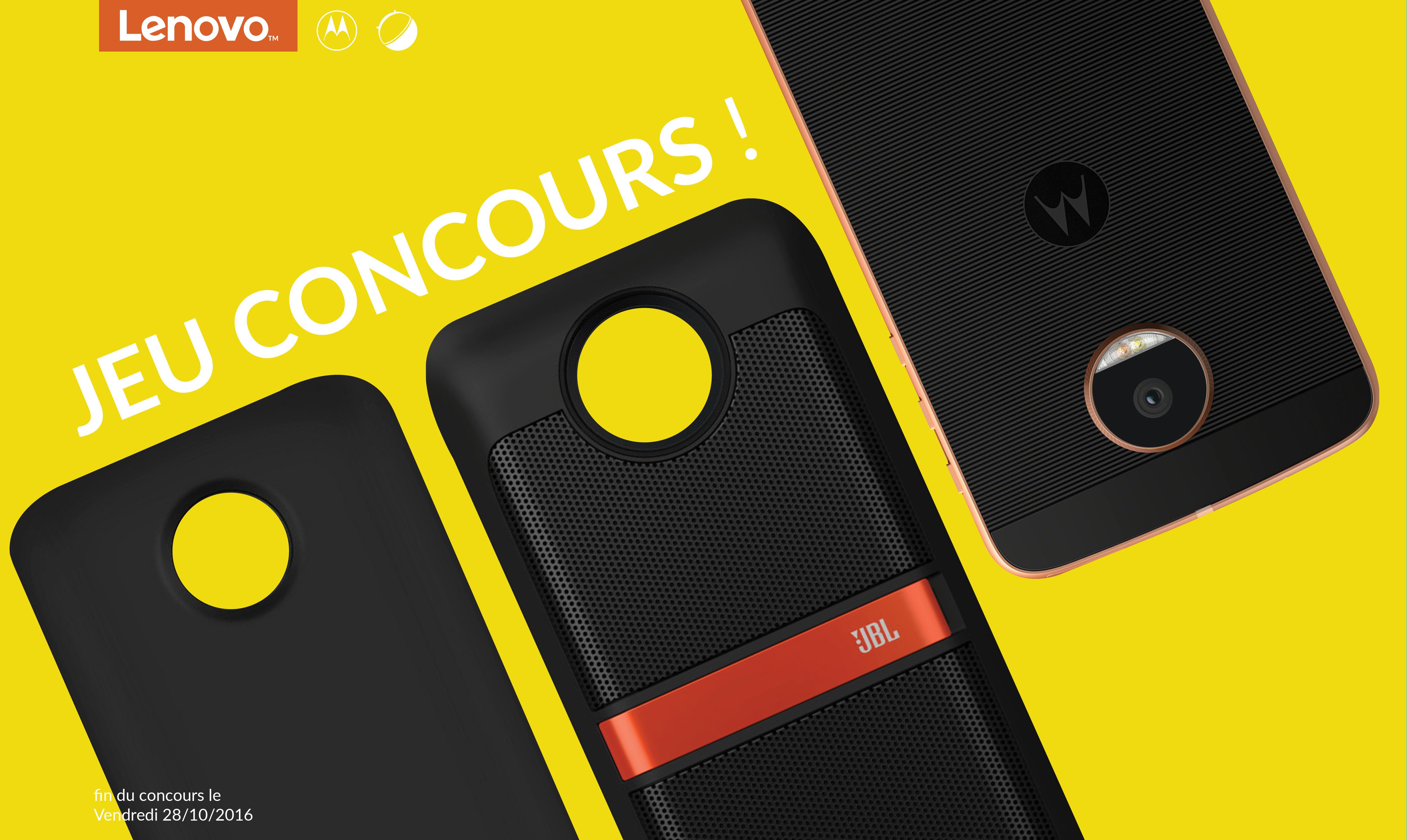Jeu-concours : des Lenovo Moto Z accompagnés de leurs Mods à gagner