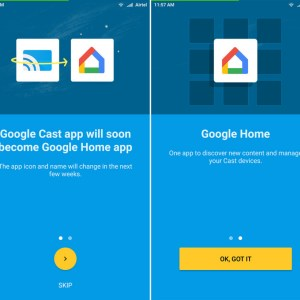 L'application Google Home (Google Cast) arrive sur le Play Store cette semaine