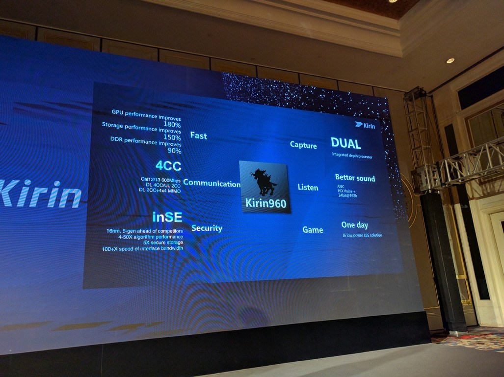 Kirin 960 : Huawei dévoile la puce ultra performante qui équipera le Mate 9