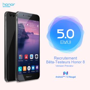 Honor 8 : la bêta d'EMUI 5.0 sous Android 7.0 Nougat arrive en France